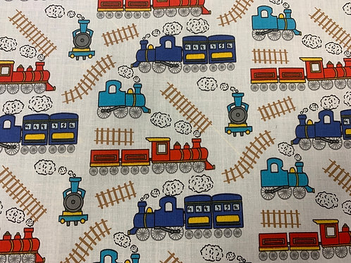 1614IP Train track polycotton