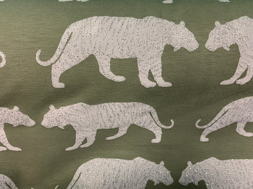 1549 - Glitter Tiger Jersey - Sage