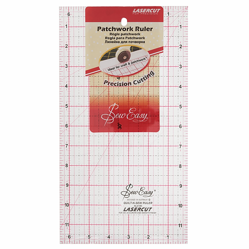 1661 12x6.5 inch Patchwork Ruler