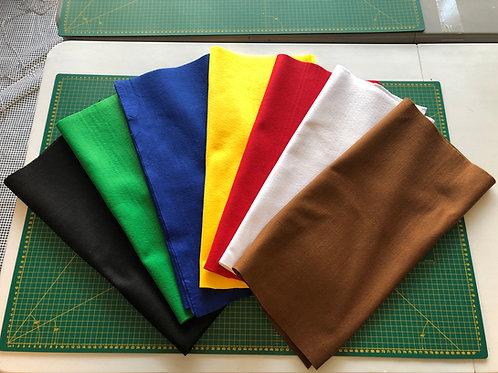 1444 Plain Coloured Felts