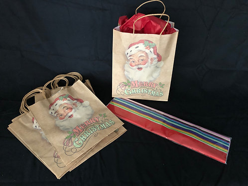 1231 12 pack - Eco-Christmas Present Bags and Tissue