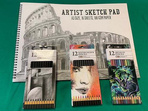 1254  Artists Sketch Set