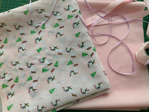 Christmas Unicorn fabric project pack