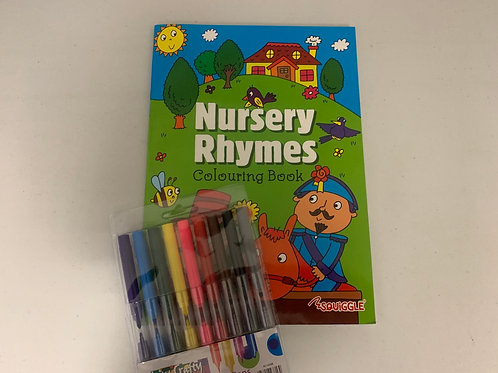 Nursery rhymes colouring set
