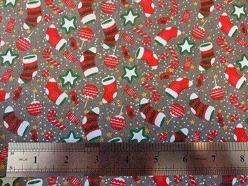 335RR Christmas stockings polycotton