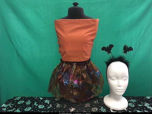 Multi coloured glitter tutu and headboppers