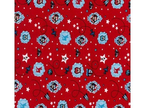 1677 - Kiddie Fun - Cotton Jersey - Red
