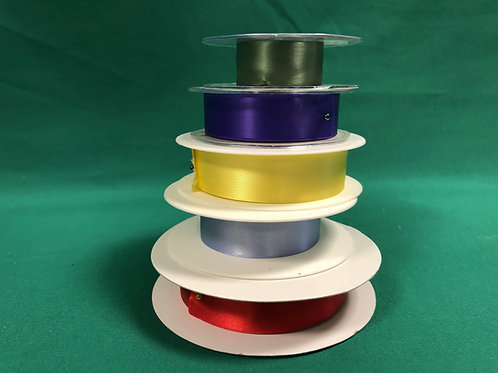 25mm Satin Ribbon - variety of colours