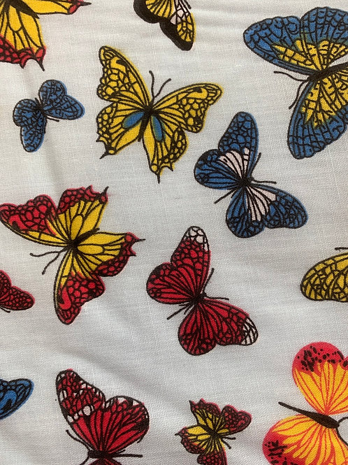1122 Butterflies on pale blue polycotton