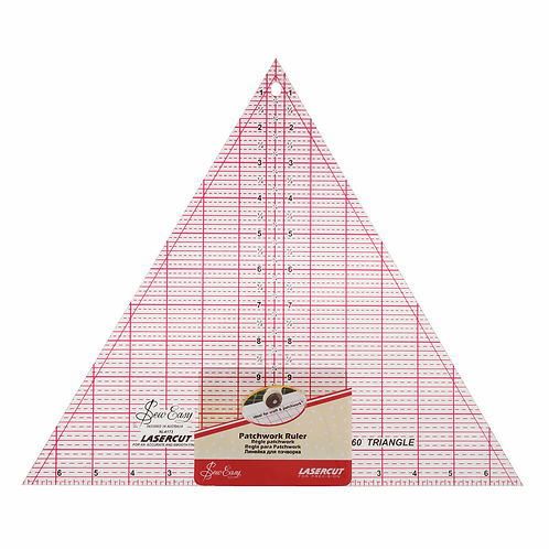 1696 - Quilting 60 Deg Triangle - Patchwork Ruler