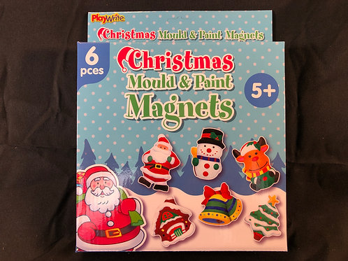 1208 Christmas Mould and Paint Magnets