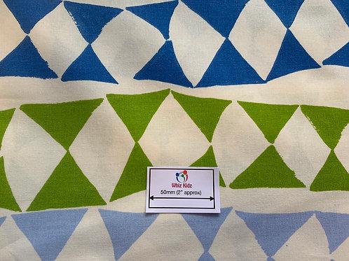 1387 Colourful Triangles 100% Cotton