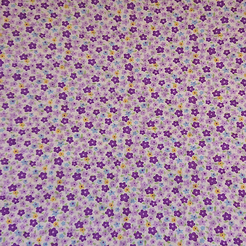 1499 Lilac and Purple Floral 100% Cotton