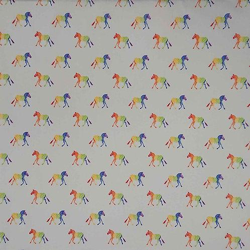 1671 - Rainbow Zebras - Polycotton