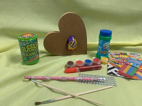 1694 - Wooden Heart & Egg craft set