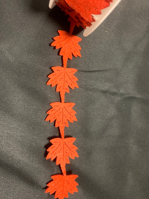 Autumn leaves felt ribbon