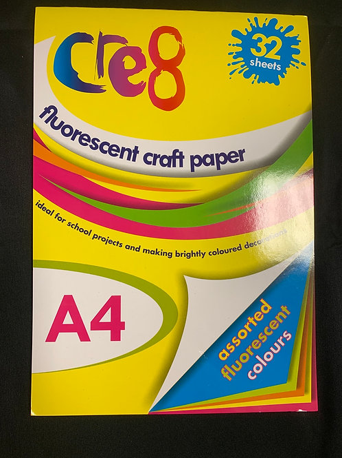1389 Fluorescent Craft Paper Pad