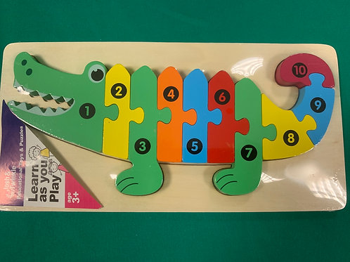 Crocodile Wooden number puzzle
