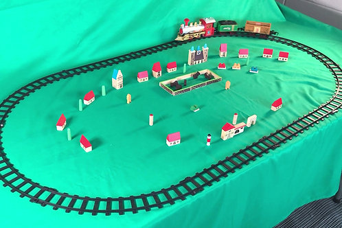 1234 Christmas Train Set and wooden toy town