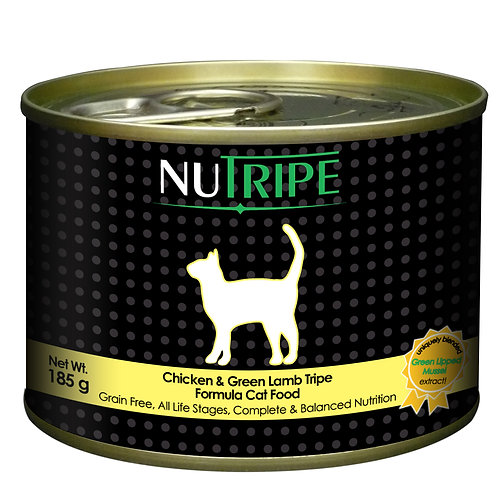 Nutripe: Chicken &Green Lamb Tripe (185g)-24 Cans