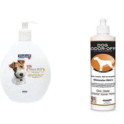 DOG:Thornell OdorOff + Vitakraft Shampoo - 12% Off
