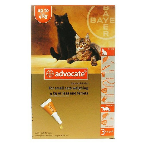 Bayer Advocate: For Cats (&lt4kg)