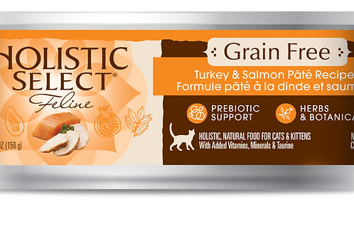 HolisticSelect:GrainFree:TurkeySalmon(156gm)10 Can