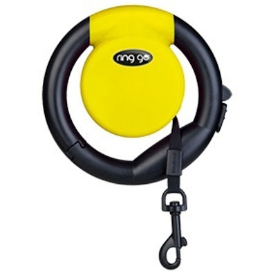 Vitakraft Ring Go Retractable Leash: Yellow