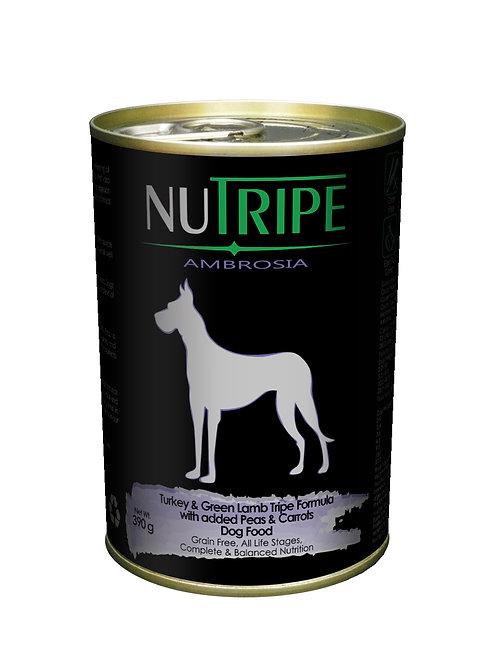 Nutripe:Turkey & Green Lamb Tripe w Peas x 24 Cans