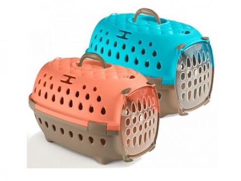 Stefanplast Travel Chic Carriers -Peach and CaribbeanBlue