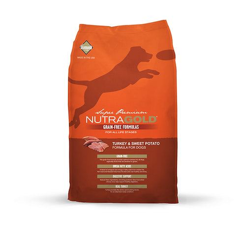 NutraGold :Grain-Free Turkey &Sweet Potato(13.6kg)