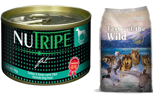 DOG:Taste of The Wild(Dry)+Nutripe Fit(Wet) 29%Off