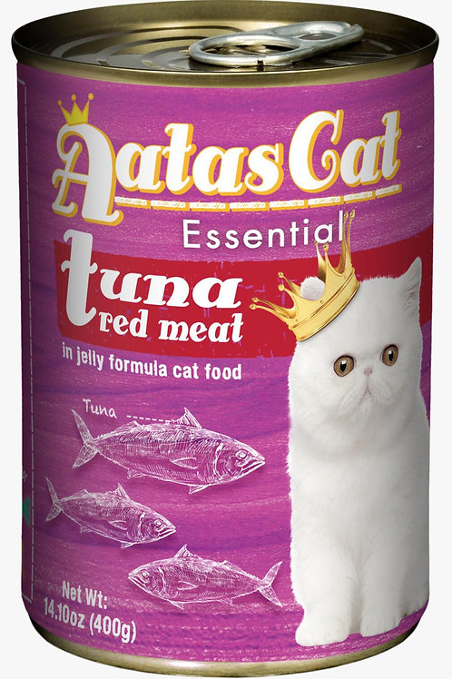 Aatas Cat Essential Tuna Red Meat in Jelly Formula 400g-Bundle 24 Tins