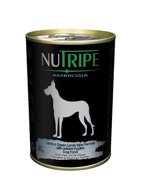 Nutripe:Lamb & Green Lamb Tripe w Apples x 24 Cans