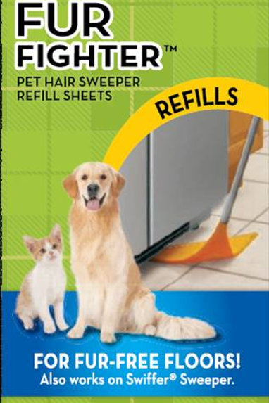 3M Fur Fighter- Pet Hair Sweeper : 3 Refills Pkt