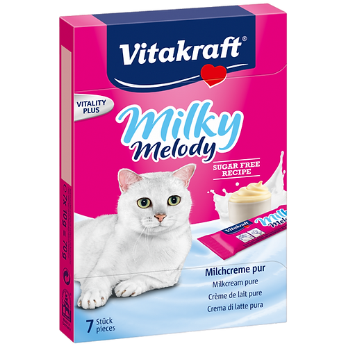 Vitakraft Milky Melody Pure Cat Treat 70g- Bundle of 11 Boxes