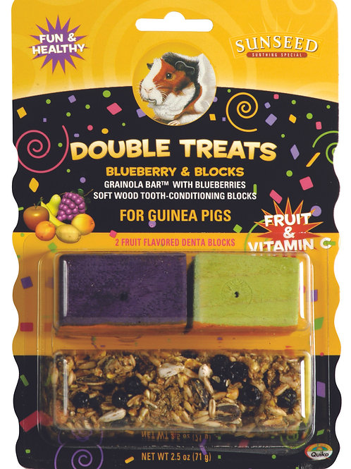 Sunseed:Blueberry Bar&Blocks -Guinea Pig x 4 Pkts
