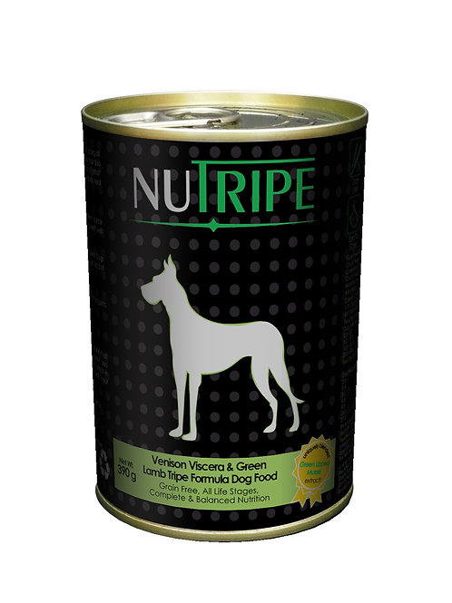 Nutripe:Venison ,Lamb & Green Lamb Tripe x 24 Cans