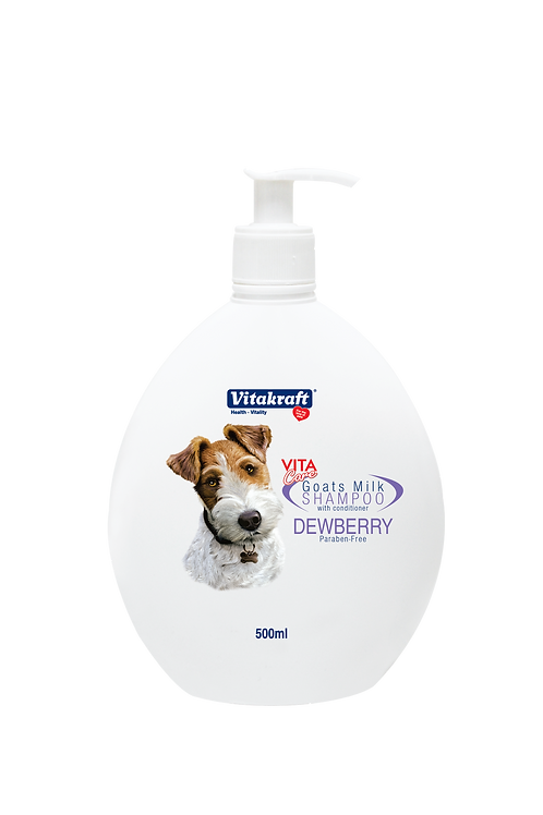 Vitakraft Goat Milk Shampoo -Dewberry: 500 ml