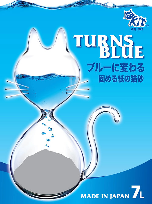 QQKit:Paper Cat Litter Turns Blue(7L) :2 Bags Deal