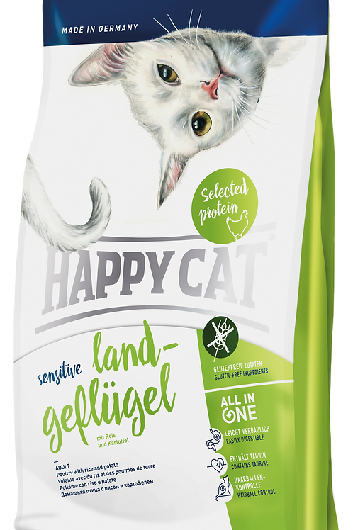 Happy Cat Sensitive Land-Geflügel (Organic Poultry) Cat Food: 3 Bags Deal