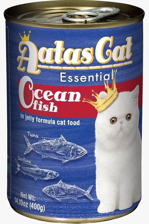 Aatas Cat Essential Ocean Fish in Jelly Formula 400g-Bundle 24 Tins