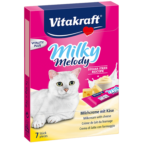 Vitakraft Milky Melody With Cheese Cat Treat 70g- Bundle of 11 Boxes