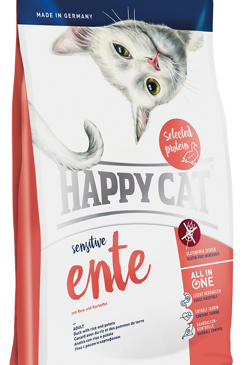 Happy Cat Sensitive Ente (Duck) Cat Food: 3 Bags Deal