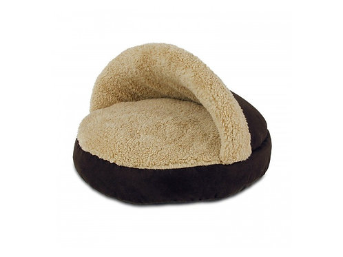 AFP Lambswool Cosy Snuggle Bed-Brown