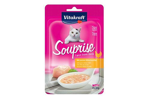 Vitakraft Cat Souprise Pure Chicken Fillet 4x20g- bundle of 18 packets