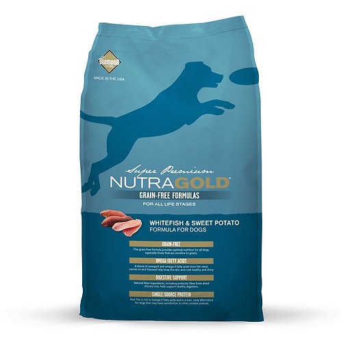 NutraGold Grain Free WhiteFish & Sweet Potato Dog Food 13.6 Kgs