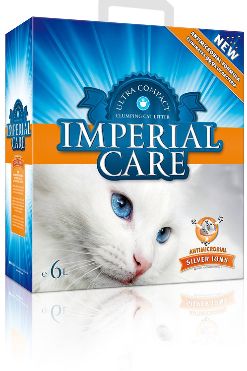 ImperialCare:Antimicrobial Silver Ions CatLitter6L