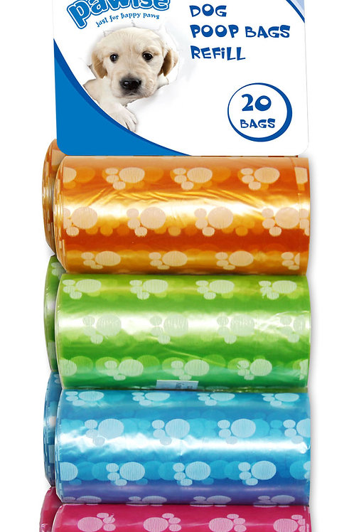 Pawise: Poop Bags Refill 8-Pack : 3 Pack Offer