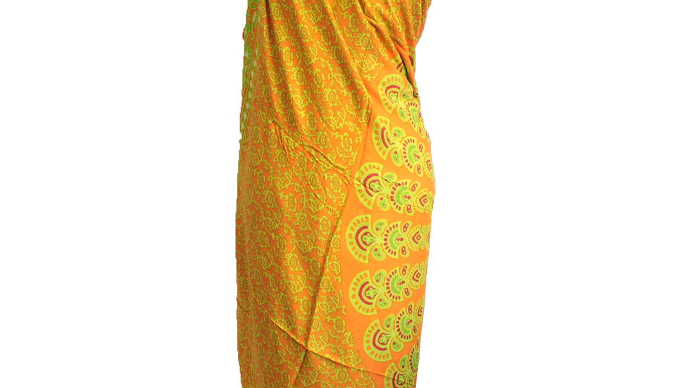 Lime Orange Mandala Sarong